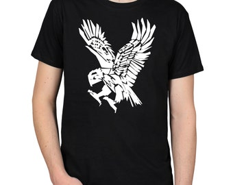 HUNTING EAGLE with Talons Bird of Prey Paper Cut Out Shapes T-Shirt