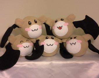 Rosario Vampire Bat Plushies