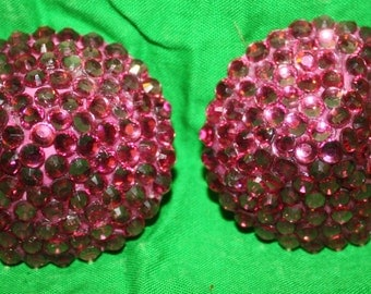 Crystal Rhinestone Pasties Burlesque Showgirl Rose Pink  Small