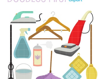House Cleaning  Digital Clip Art for Scrapbooking Card Making Cupcake Toppers Paper Crafts