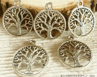 Tree of Life Pendant - Tree of Life Charm - Silver Tree of Life Charm - Antique Silver Tree Charm - Tree of Life Findings - Tree Charms