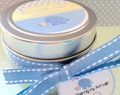 50 Baby Shower Soy Candle Favors ~4 oz. Soy Candle Tins~ Baptism Candles ~ Personalized Baby Shower Candles~Bulk Shower Favors~