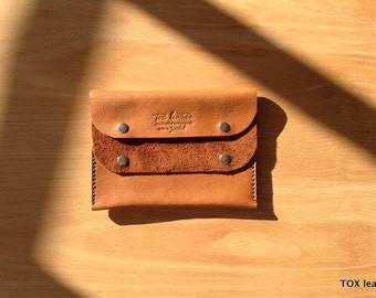 Handmade leather wallet /coin purse