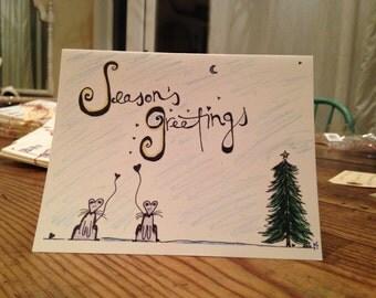 Season's Greetings - Set of 10 Greeting Cards