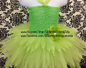 Tinkerbell Tutu Dress Size 1-3T, Disney Tinkerbell Inspired Tutu Dress, Green Fairy Tutu Dress, Tutu Fairy Dress, Fairy Tutu Costume