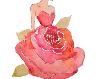Delta Zeta Fashion Stationary with Pink Rose