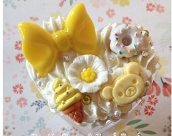 Adorable Yellow Bow Decoden Box