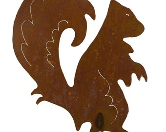 Standing Squirrel Metal Garden Stake, Yard Art GS41