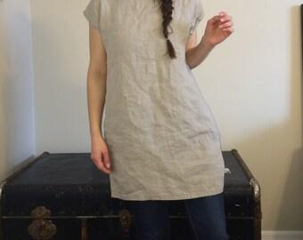 Linen tunic dress / shirt