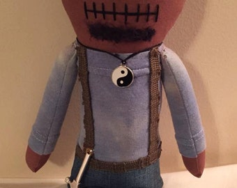 "Creepy n Cute Zombie Doll - ""Tyreese"" - Inspired by TWD (D)"