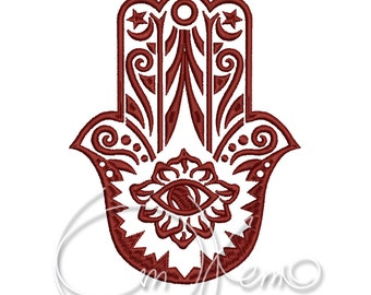 MACHINE EMBROIDERY FILE - Hamsa hand