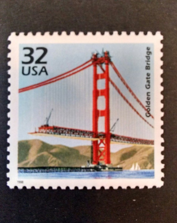 Golden Gate Bridge Postage Stamps 10 Pieces San Francisco Or