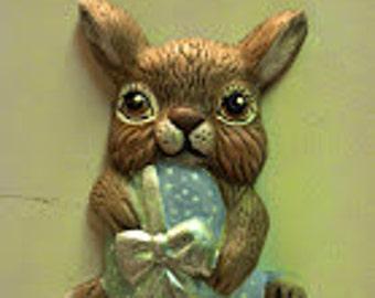 Easter Bunny Holding an Egg Magnet