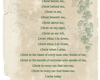 St Patrick's Breastplate: putting on the Armor of God