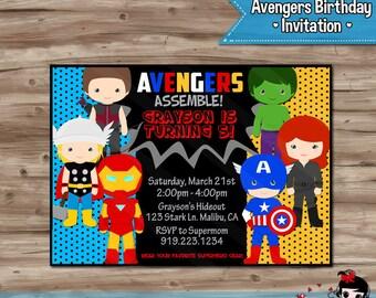 AVENGERS Invitation Avengers Invitation Avengers Invitation Avengers Invite Avengers Invite Avengers Birthday - Digital Printable, JPG File