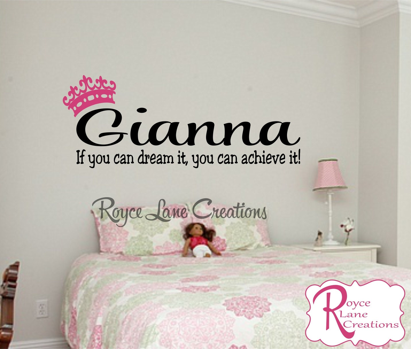 If you can dream it personalized name teen girl bedroom wall decal if you can dream it personalized name teen girl bedroom wall decal b40 bedroom wall decal bedroom decal teen girl bedroom decor amipublicfo Gallery