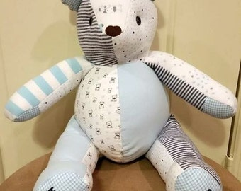 Custom Baby Memory Bears, handmade from your baby's clothing