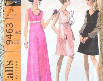 McCalls 9463 // Misses high waisted dress // Vintage Sewing Pattern 1960