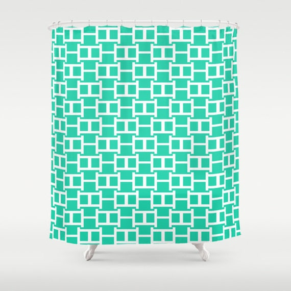 Items similar to shower curtain turquoise bathroom for Turquoise bathroom accessories sets