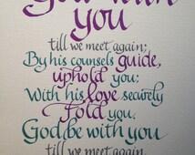 Goodbye Gift, Farewell, Custom Calligraphy, Christian Gift, Christian ...