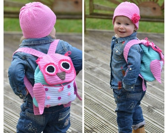 Crochet Pattern - Owl Adventure Backpack