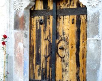 Turkish Door - Digital Photography, Turkish Art, Turkish Architecture, Turkish Photography, Rustic Door Photo, Door Photography, Door Print