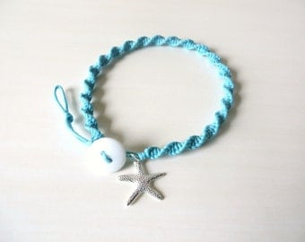 Beach Summer Anklet YOU Choose Your Charm And Your Cord Color