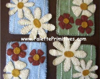 Floral Woolfelt Coasters - Instant Download E-Pattern
