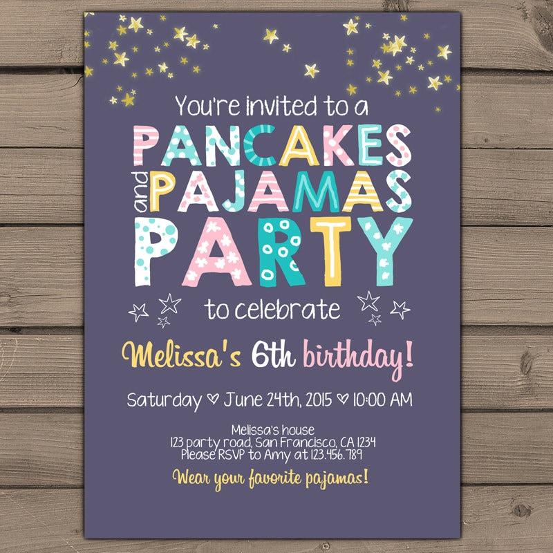 pyjama invite - 28 images - pancakes and pajamas invitation ...