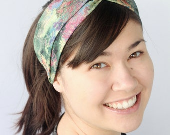 Batik Turban Headband Boho Headwrap Twist Headband