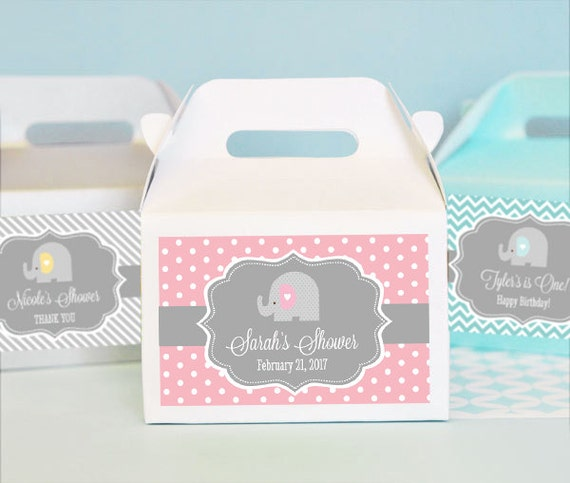 baby shower elephant favors elephant baby shower favor box elephant