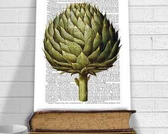 Artichoke Vegetable Print 2 - French country kitchen style French country kitchen decor French country kitchen art country kitchen print