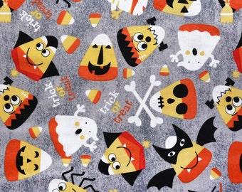 Halloween candy corn creatures dog bandana slides over the collar