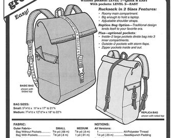 Sewing Pattern - Pioneer Rucksack Pattern, Back Bag Pattern, Green Pepper Patterns - GP 563