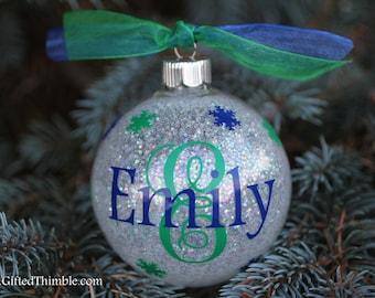 Monogram Initial Ornament / Monogram Ornament / Personalized Ornament / Christmas Ornament