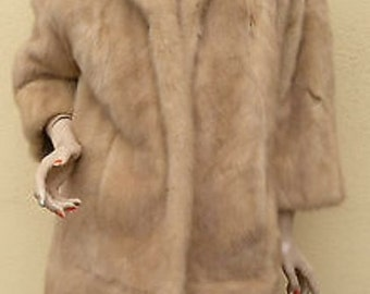 Free Shipping in USA // Clearance  Sale // Mink Fur Coat  A Masterpiece // Timeless  // Elegant // Natural / Real Mink