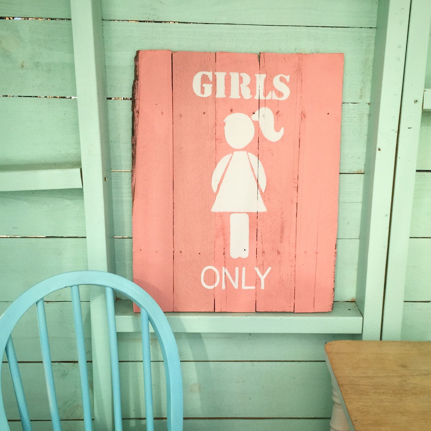 Girls only little girl wood sign kids room decor by for Kids room signs