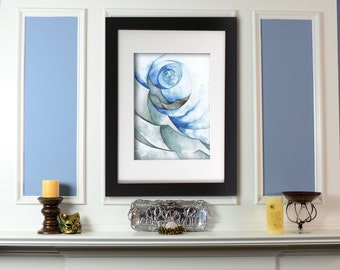 Giclee Print: Storm Watercolor Painting