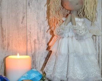 Angel. Cloth doll. Rag doll. Textile doll