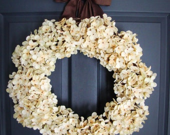 Hydrangea Wreaths | Winter Wreath | Wedding Wreaths | Front Door Wreaths | Outdoor Wreaths | Housewarming Gift | Wedding Gift Ideas