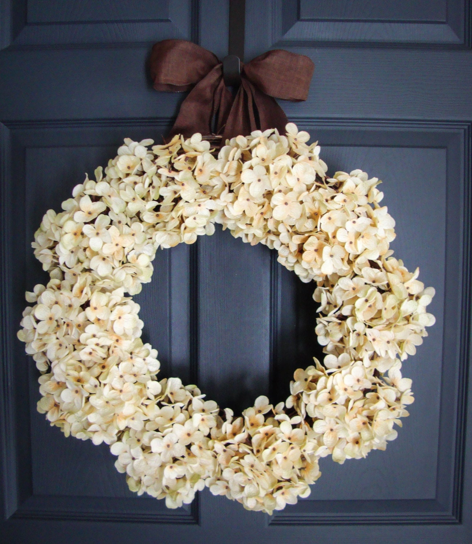 hydrangea wreaths winter wreath wedding wreaths front. Black Bedroom Furniture Sets. Home Design Ideas
