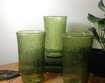 Set of Green Bamboo Glasses