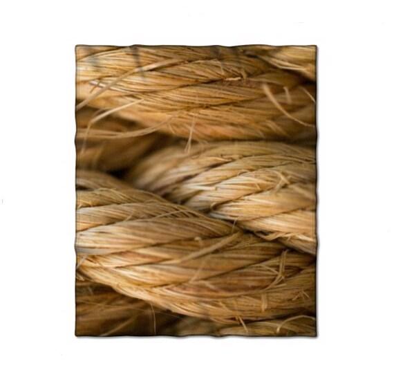 Fleece Blanket, Nautical Rope, Macro Photography, Home Decor, Living Room Throw, Beach Theme, Tropical Photograph, Comfy Blanket, Warm Throw
