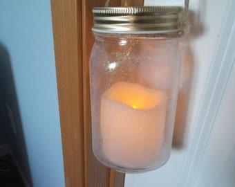 Glitter Mason Jar Lantern, Mason Jar lanter, Jar Lantern, Glitter Lantern, Large Jar Lantern, Glitter Mason Jar, Garden Decor