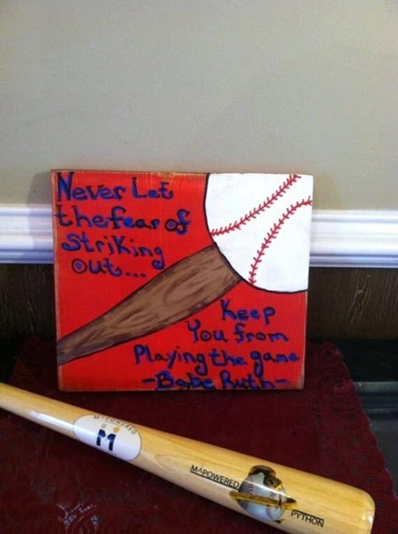 Https Www Etsy Com Listing 221119183 Baseball Sign Decor Baseball Signs Wood