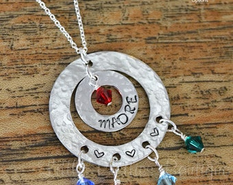 Madre Necklace, Mother Necklace, Spanish Necklace, Birthstone Necklace, mom gift, Mother's Day