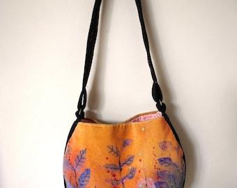 Handmade velvet handbag