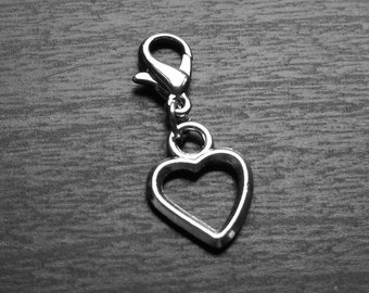 Heart Dangle for Floating Lockets-Antique Silver Heart-GIft Ideas for Women