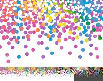 80% OFF SALE Confetti Paper, Confetti Scrapbook Paper, Digital Confetti, Digital Confetti Paper, Rainbow, Bright
