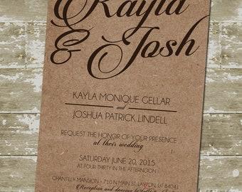 Kayla Wedding Invitation